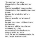 she apologized