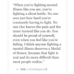 Fighting mental illness
