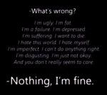 nothing i'm fine