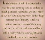 Nightmares to dreams